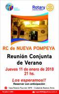 Flyer Reunión Conjunta de Verano
